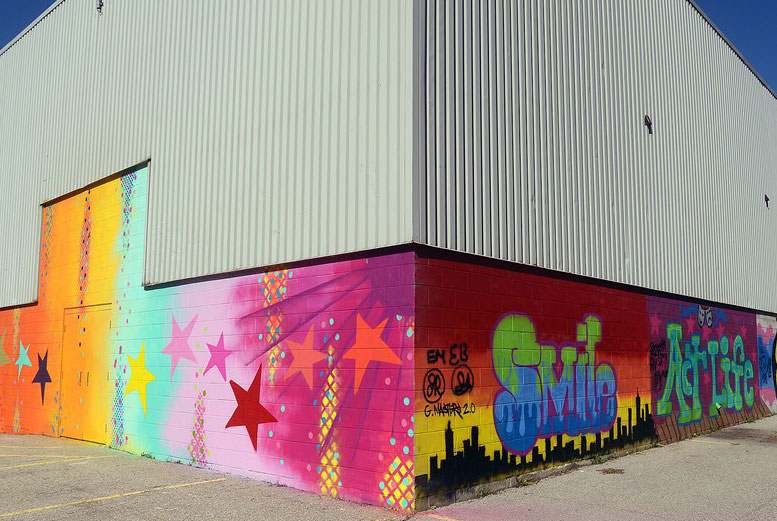 Guelph Little Theatre - community mural